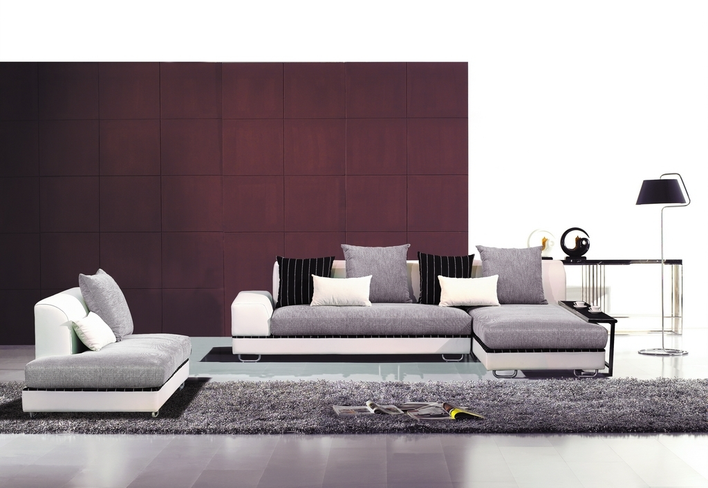 Most Recent Contemporary Fabric Sofas Inside Fabric Sectionals, Modern Living Room – Contemporary Fabric (View 6 of 10)