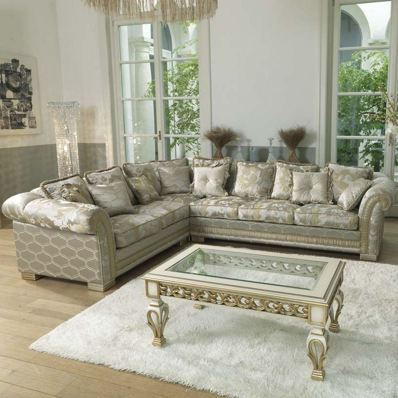 Most Recent Corner Sofa / Traditional / Fabric / 5 Seater – Ambassador – Pigoli With Traditional Fabric Sofas (View 2 of 10)