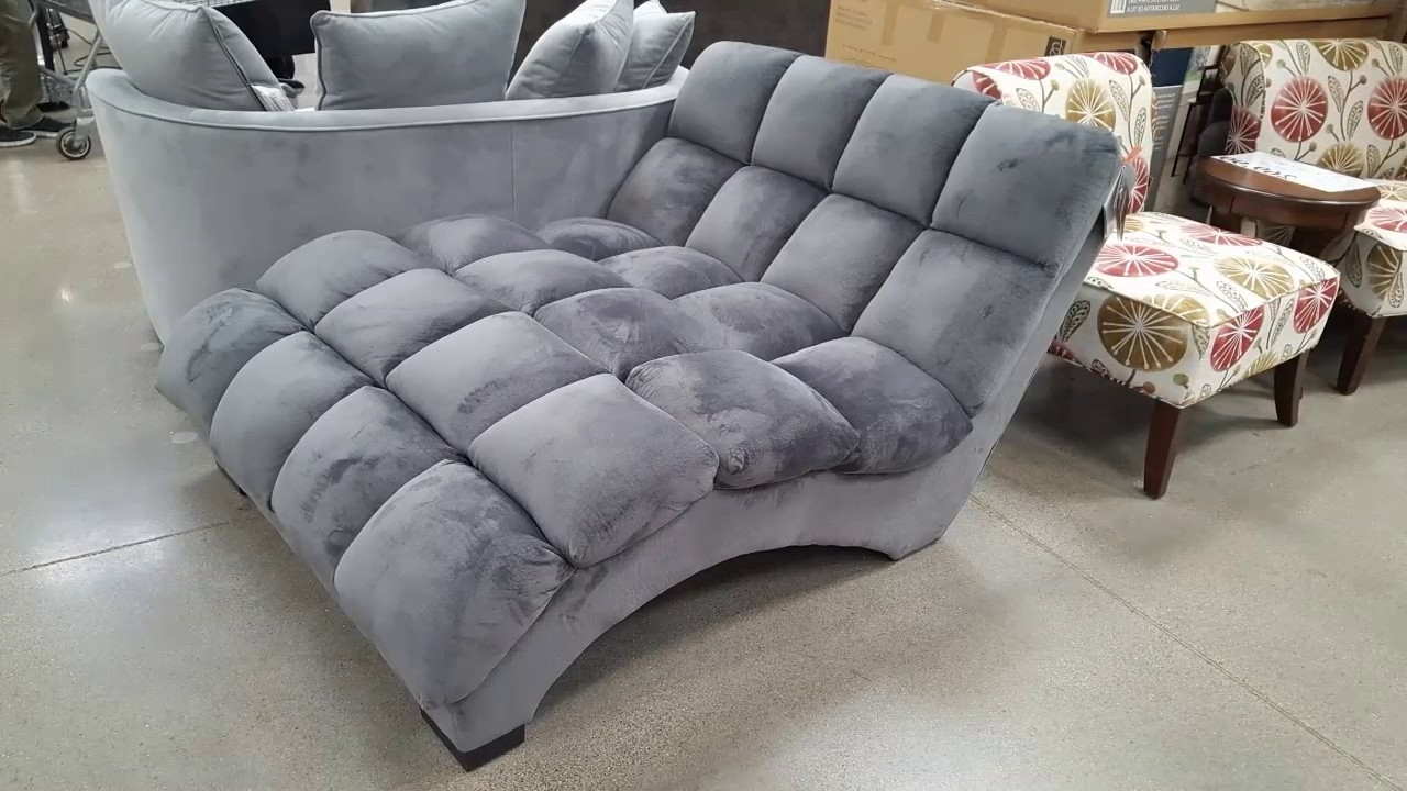 Most Recent Costco! Bainbridge Fabric Microfiber Pillow Chaise Lounger $299 Inside Costco Chaise Lounges (View 3 of 15)