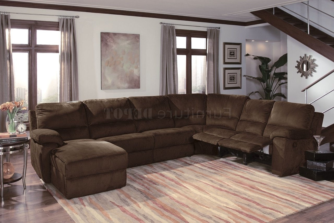 Most Recent Furniture: Charming Sectionals Sofas For Living Room Furniture Regarding Reclining Sectionals With Chaise (View 8 of 15)