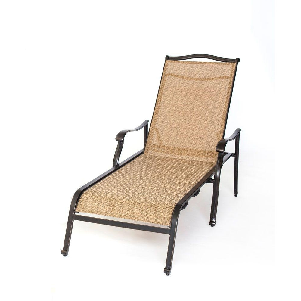 Most Recent Hanover Monaco Patio Chaise Lounge Chair Monchs – The Home Depot Throughout Home Depot Chaise Lounges (View 6 of 15)