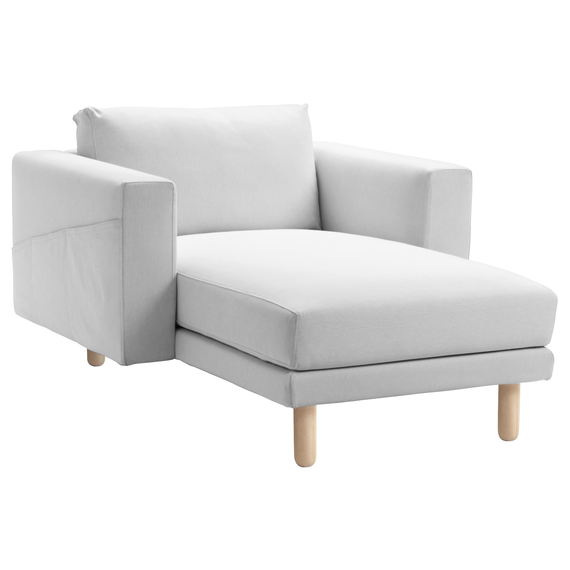 Most Recent Ikea Chaise Longues Throughout Norsborg Cover For Chaise Longue Finnsta White – Ikea (View 9 of 15)