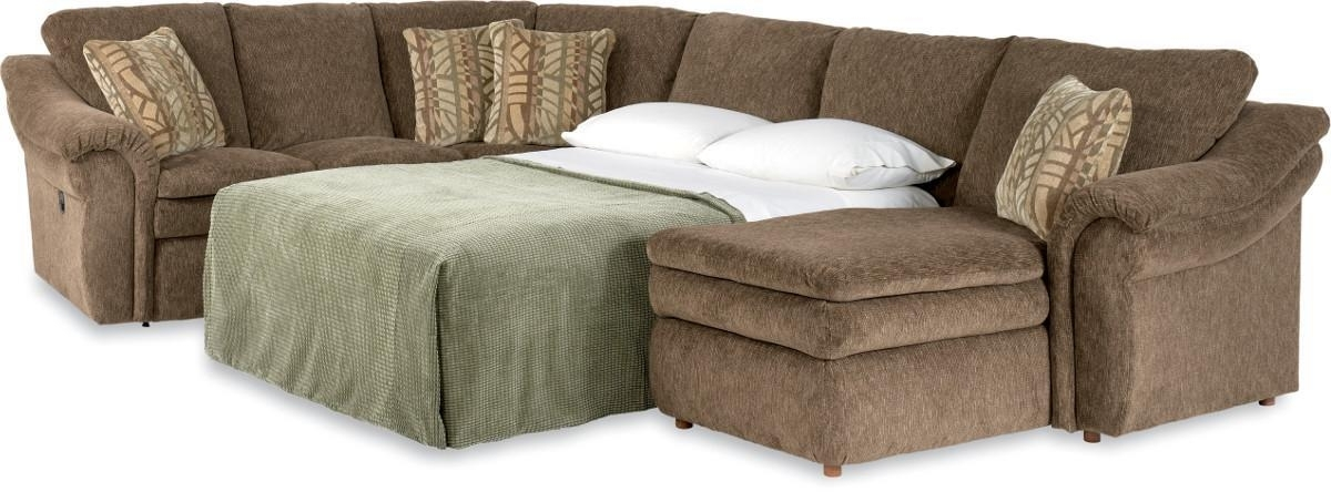 Most Recent La Z Boy Sectional Sofas In 4 Piece Sectional Sofa With Ras Chaise And Full Sleeperla Z (View 7 of 10)
