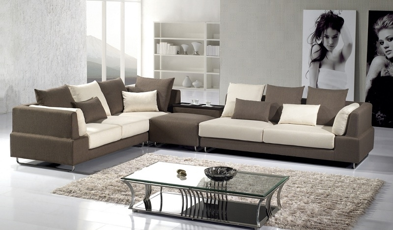 Most Recent Modern Brown Microfiber Sectional Sofa – Shop For Affordable Home Regarding Modern Microfiber Sectional Sofas (View 3 of 10)