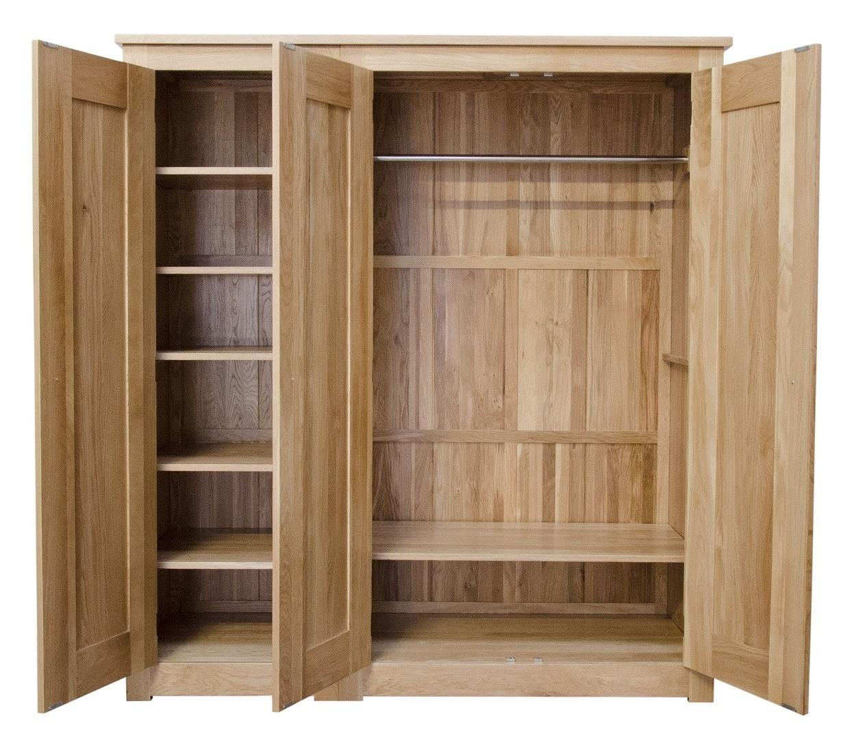 Most Recent Oak 3 Door Wardrobes With Regard To Torino Solid Oak 3 Door Triple Wardrobe (View 5 of 15)