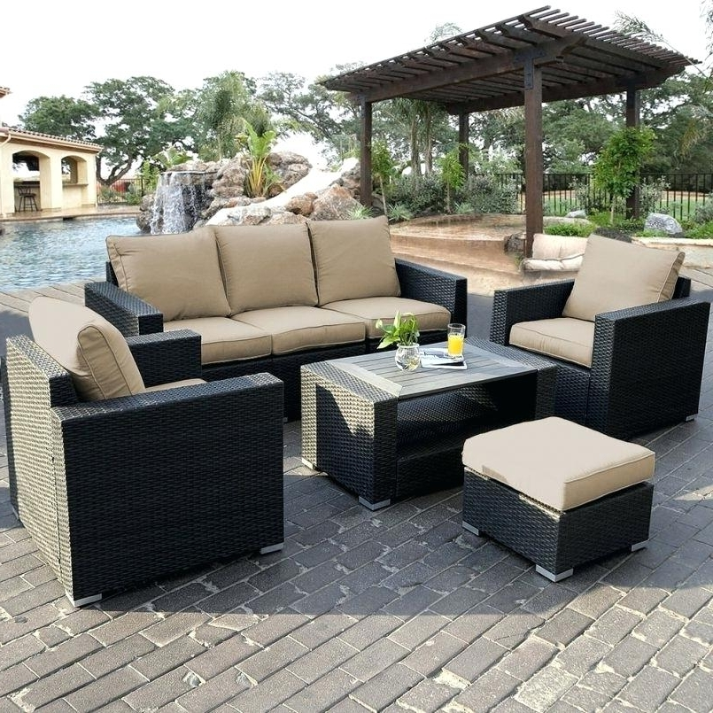 Most Recent Patio Sofas Pertaining To Patio Sofas On Clearance Furniture Indoor Rattan Bar Stools Large (View 9 of 10)