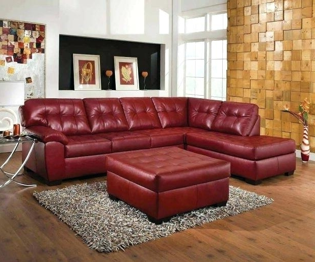 Most Recent Red Leather Sectionals With Chaise Regarding Red Leather Sectional Sofa With Chaise Prefab Homes Curvedred (View 2 of 10)