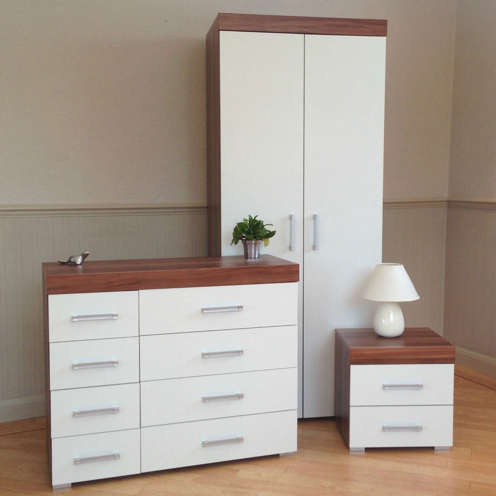 Most Recent Walnut And White Bedroom Furniture (Photos And Video Pertaining To Cheap White Wardrobes Sets (View 14 of 15)