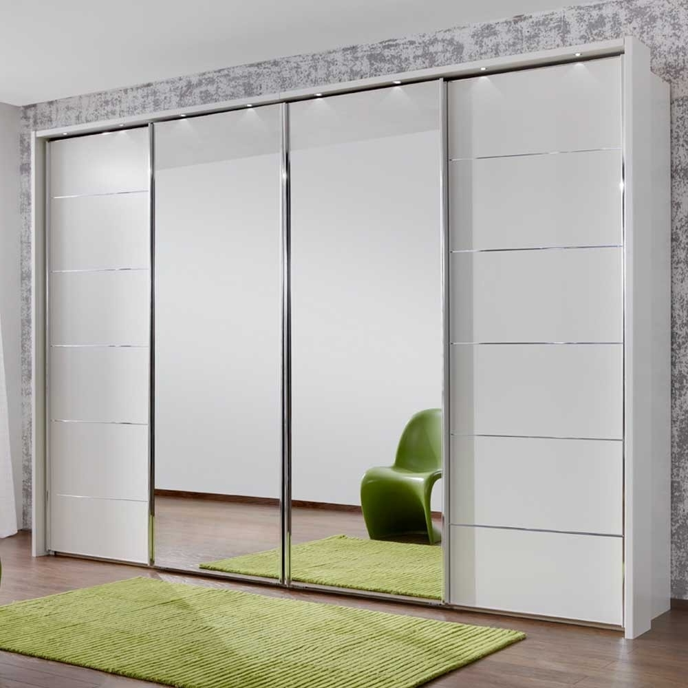 Most Recent White 3 Door Mirrored Wardrobes In White Wardrobe With Mirror Ebay 3 Door And Drawers Gloss You Will (View 9 of 15)