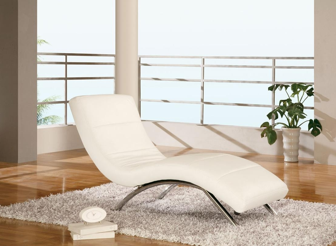 Most Recent White Leather Chaise With White Leather Chaises (View 7 of 15)
