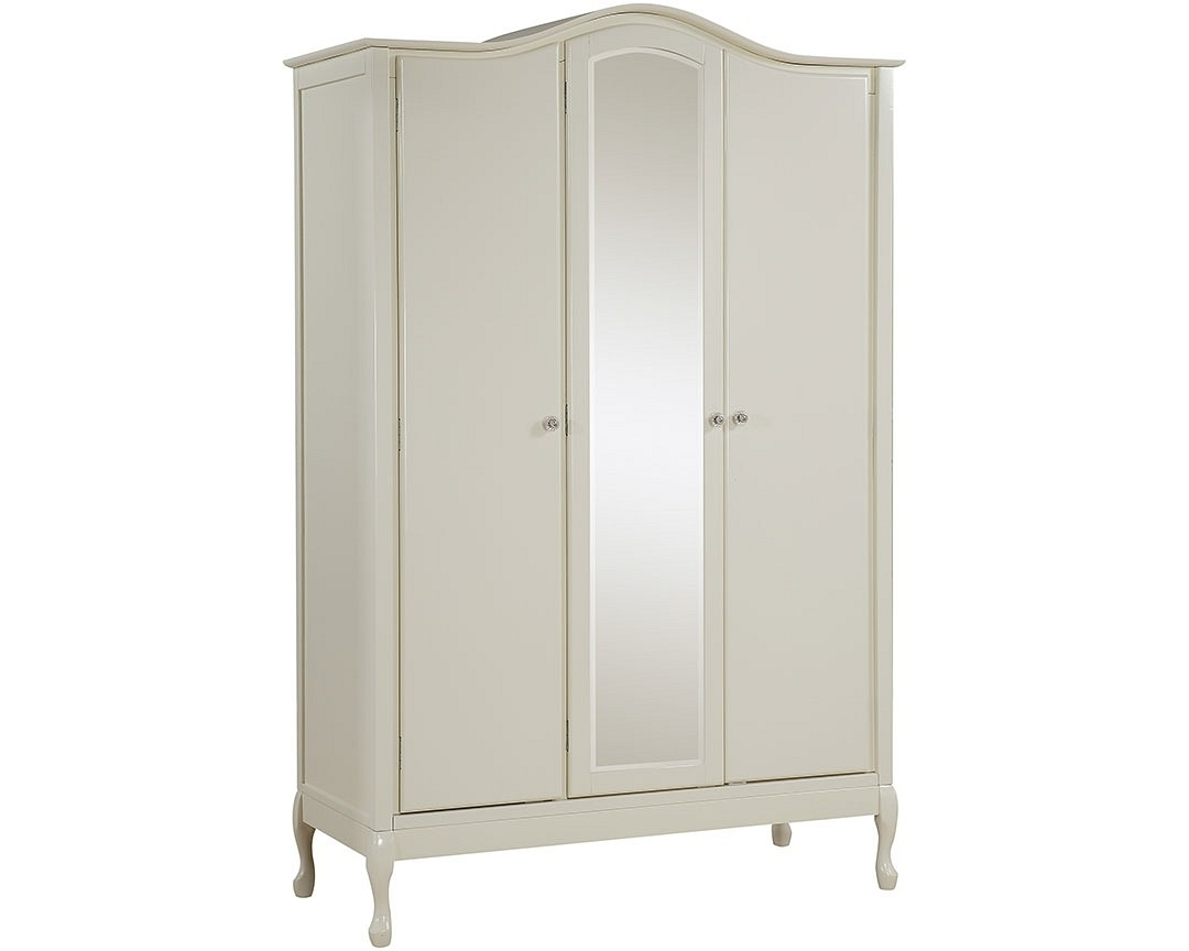 Most Recently Released 3 Door French Wardrobes In Loire 3 Door Wardrobe (View 11 of 15)