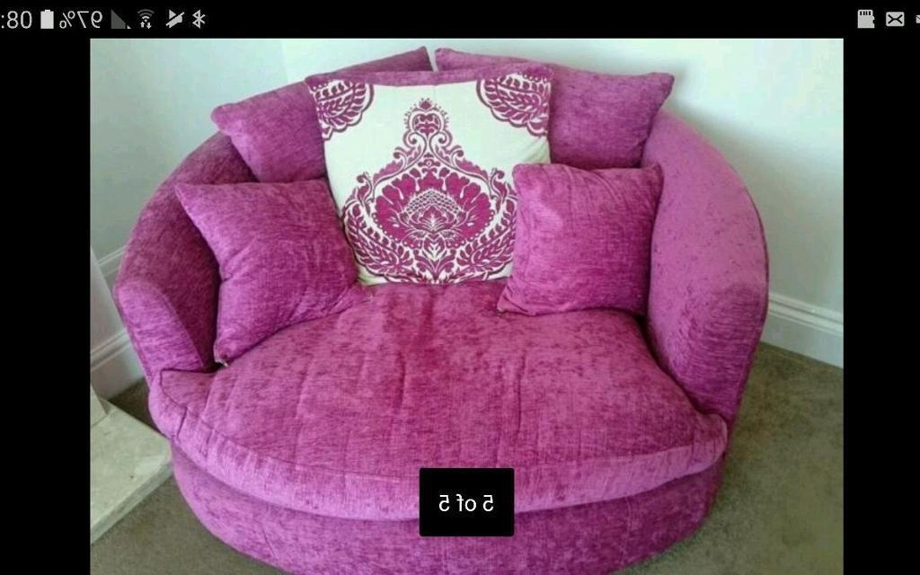 Most Recently Released 3 Seater Sofa Pink And Cuddle Chair (View 13 of 15)