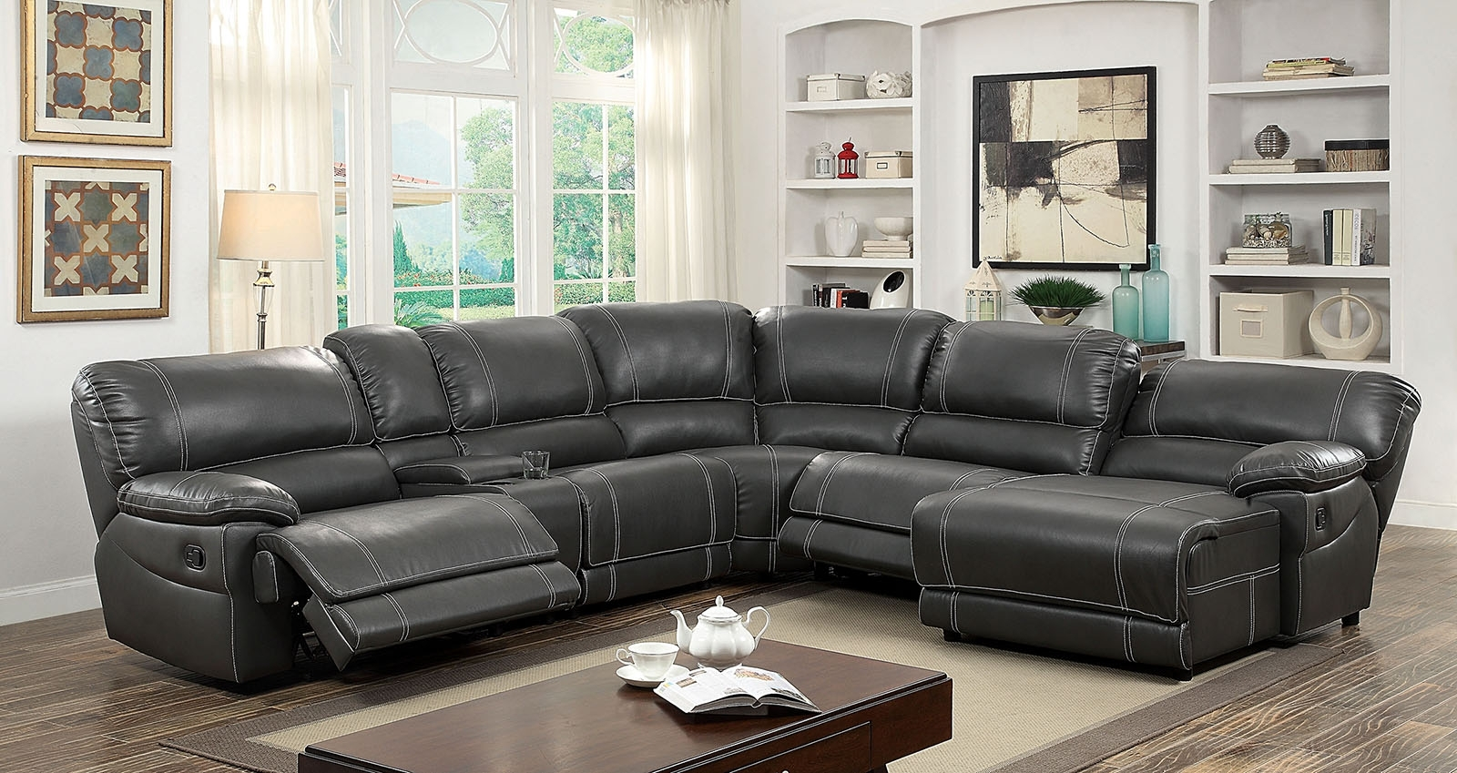 Most Recently Released Ashley Furniture Sectional Couch Sectionals Sofas  Fabric Reclining With Regard To Reclining Sectionals