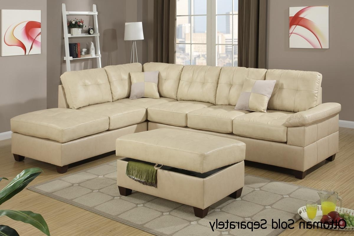 Most Recently Released Beige Sectionals With Chaise With Beige Leather Sectional Sofa – Steal A Sofa Furniture Outlet Los (View 14 of 15)