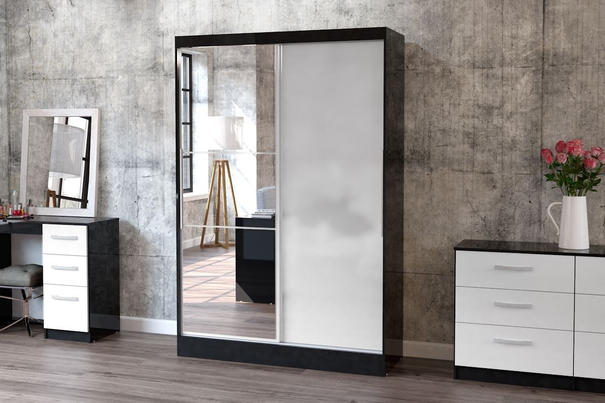 Most Recently Released Black Sliding Wardrobes With Birlea Furniture Lynx (View 13 of 15)