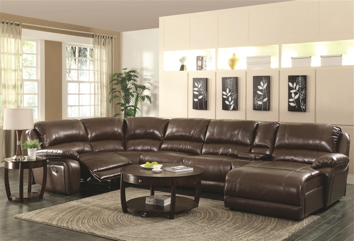 Most Recently Released Brown Sectional Sofas Lovely L Shaped Brown Leather Sleeper Sofa Intended For Sectionals With Chaise And Recliner (View 8 of 15)