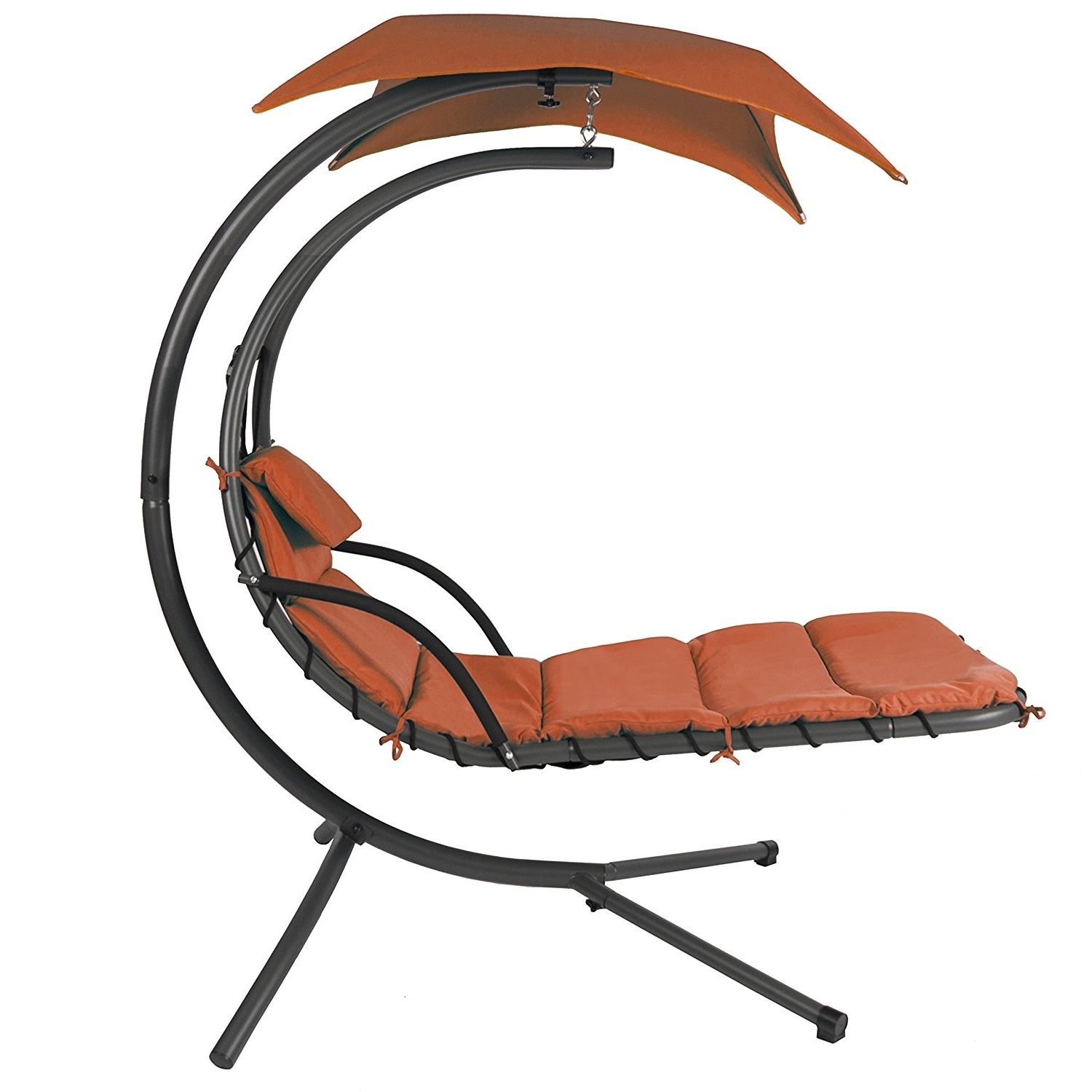 Most Recently Released Chaise Lounge Swing Chairs For Amazon : Best Choice Products Orange Color Handing Chair (View 8 of 15)