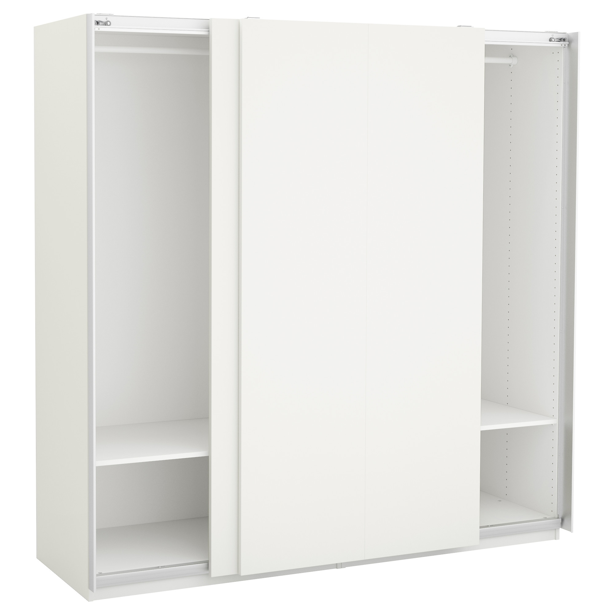 Most Recently Released Cheap White Wardrobes For Pax Wardrobe – 200X66X236 Cm – Ikea (View 10 of 15)