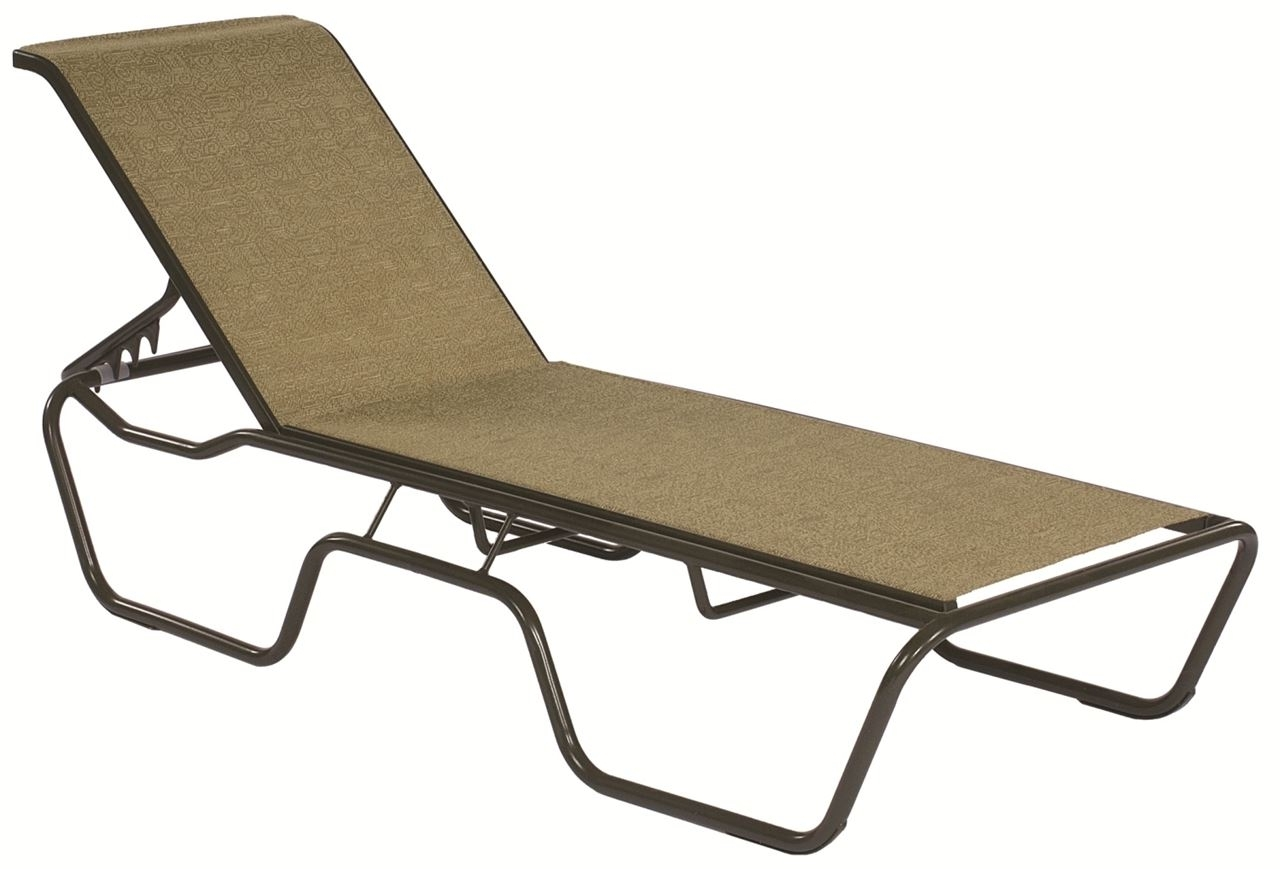 Most Recently Released Commercial Sling Chaise Lounge Sanibel Stacking  Outdoor Patio Intended For Chaise Lounge Sling Chairs (View 11 of 15)