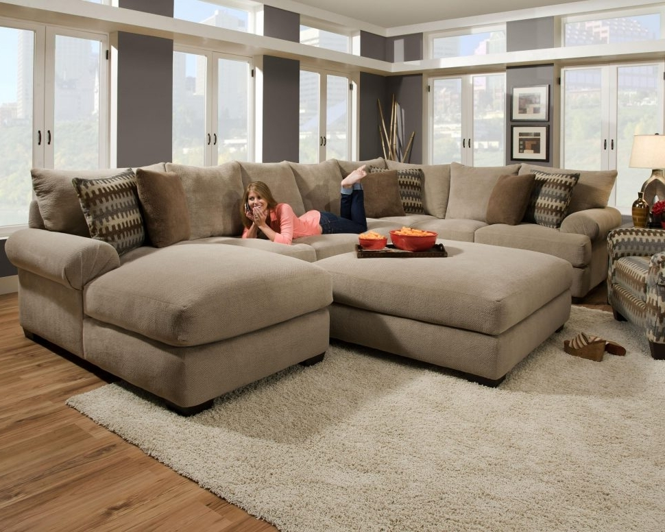 Marvelous Most Recently Released Couches With Large Ottoman Within Sofas : Small L  Shaped Couch Living Room