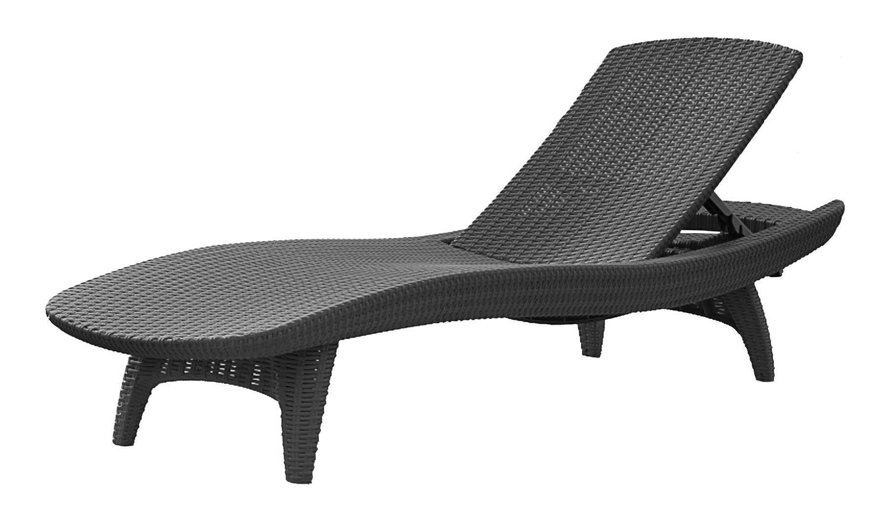 Most Recently Released Keter Pacific Chaise Sun Lounger And Side Table Set, Charcoal Pertaining To Keter Chaise Lounges (View 14 of 15)
