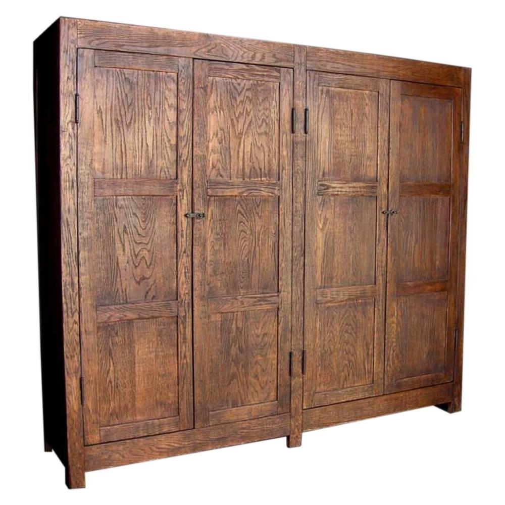 Most Recently Released Large Oak Wardrobes In Dos Gallos Custom Large Oak Wood Cabinet Or Wardrobe For Sale At (View 15 of 15)