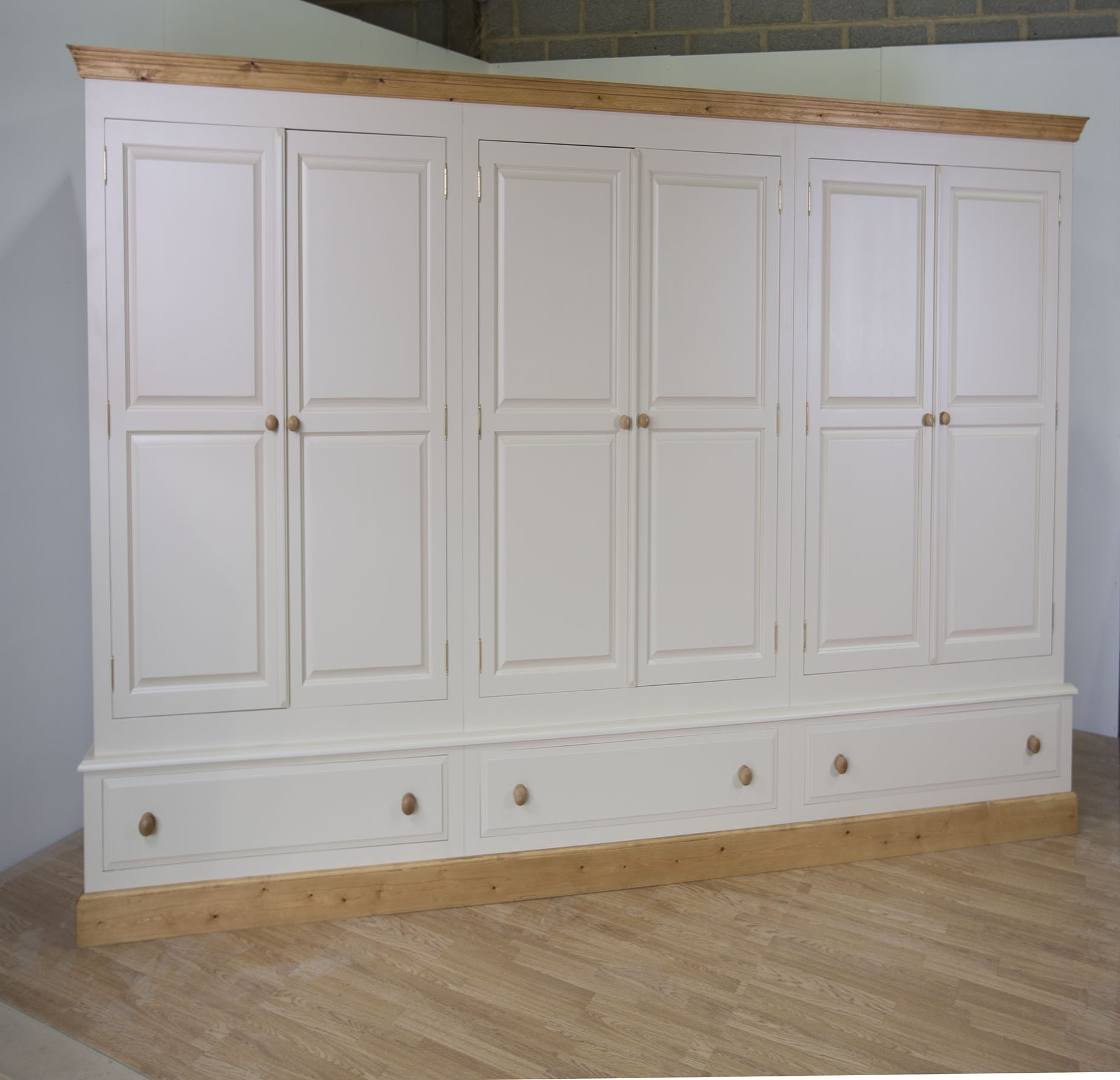 Most Recently Released Large Pine Wardrobe With Drawers • Drawer Furniture With Regard To White And Pine Wardrobes (View 6 of 15)