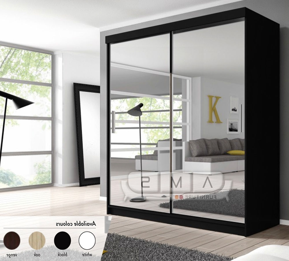 Most Recently Released New Full Mirrored Sliding Door German Wardrobe With Shelves With Regard To Black Wardrobes With Mirror (View 11 of 15)