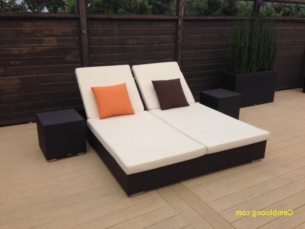 Most Recently Released Outdoor Double Chaise Lounge Beautiful Furniture Rattan Frame For Double Outdoor Chaise Lounges (View 14 of 15)