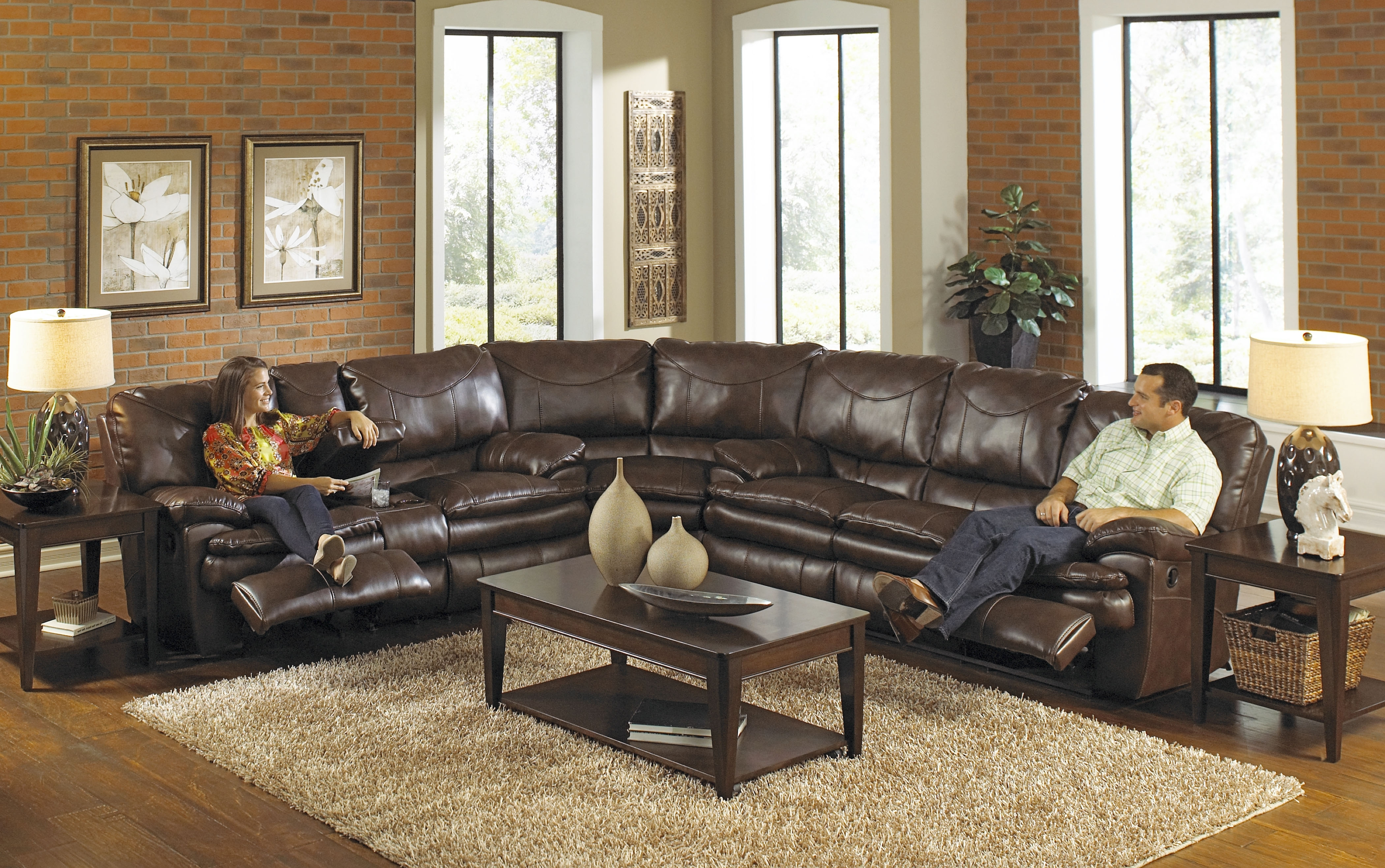 Most Recently Released Reclining Sofas With Chaise Regarding Best Leather Sectional Sofa With Recliner Photos – Liltigertoo (View 9 of 15)