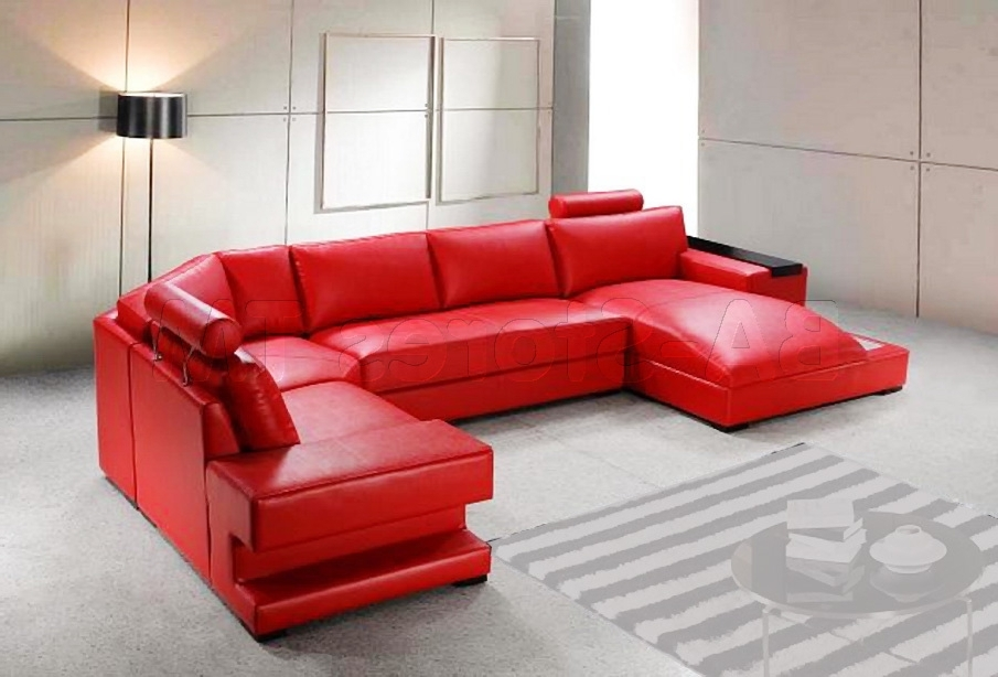 Most Recently Released Red Leather Sectional Couches Pertaining To Red Reclining Sectional Sofas 13 Extraoradinary Red Sectional Red (View 7 of 10)