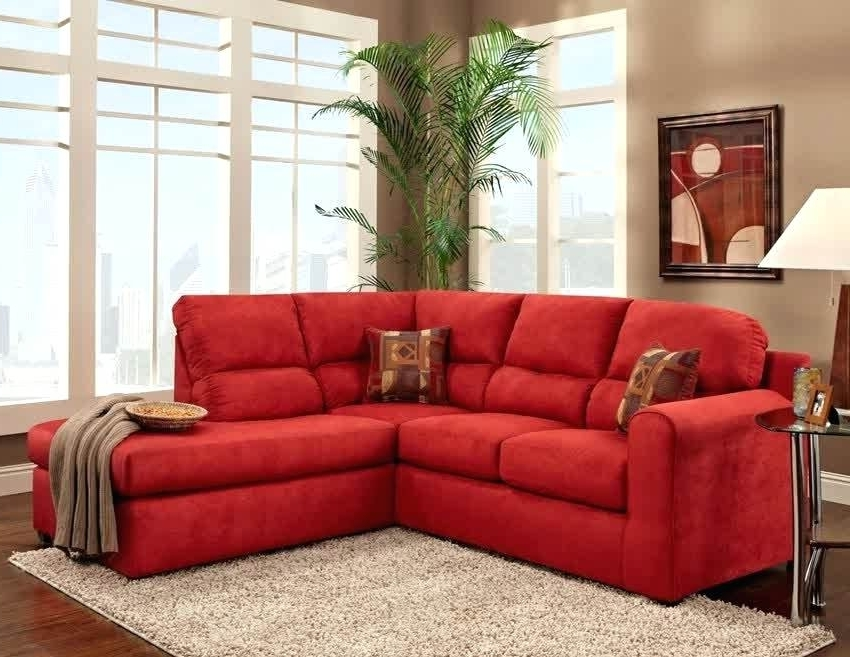 Most Recently Released Red Sectional Sofas With Ottoman Regarding Microfiber Sectional Sofa With Ottoman – Etechconsulting (View 5 of 10)