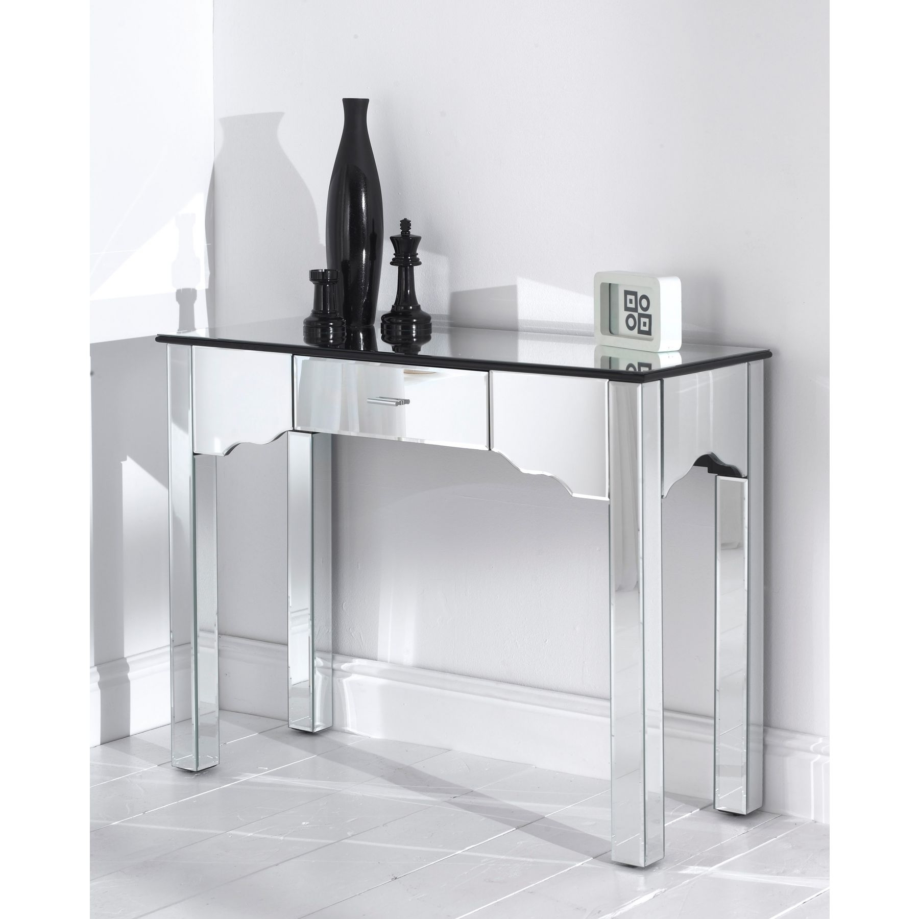 Most Recently Released Romano Mirrored Wardrobes Pertaining To Mirrored Romano Console Table (View 7 of 15)