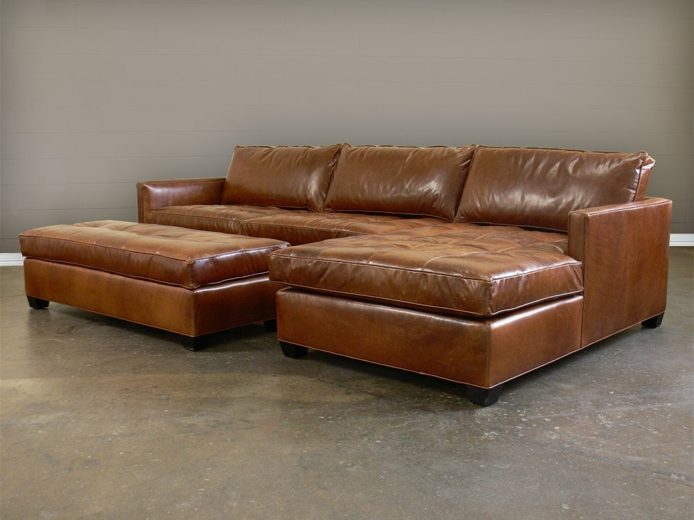 Most Recently Released Sectional Sofa Design: Full Grain Leather Sectional Sofa For Leather Sectionals With Chaise And Ottoman (View 10 of 10)