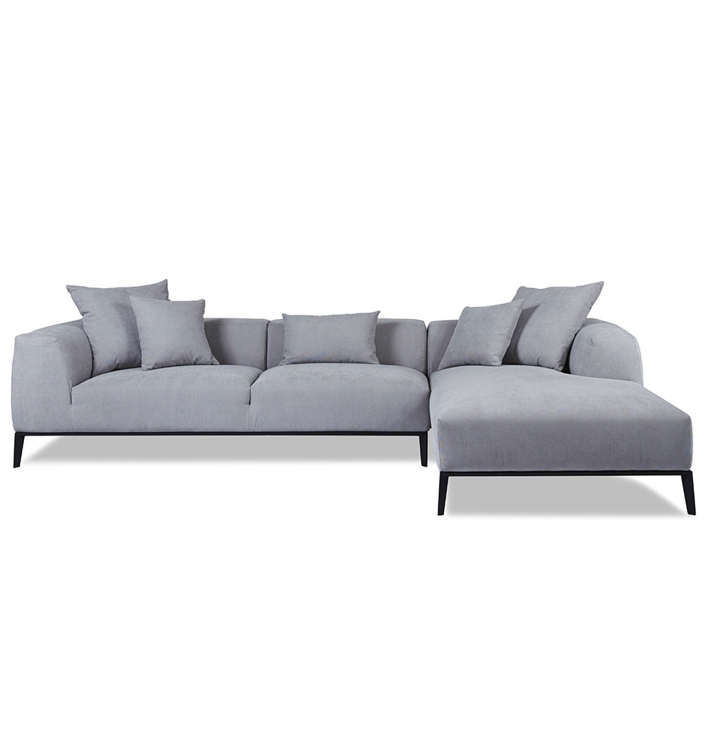 Most Recently Released Sofa ~ Awesome Chez Lounge Sofa Danielle Chaise Lounge Front Chez Within Grey Sofas With Chaise (View 11 of 15)