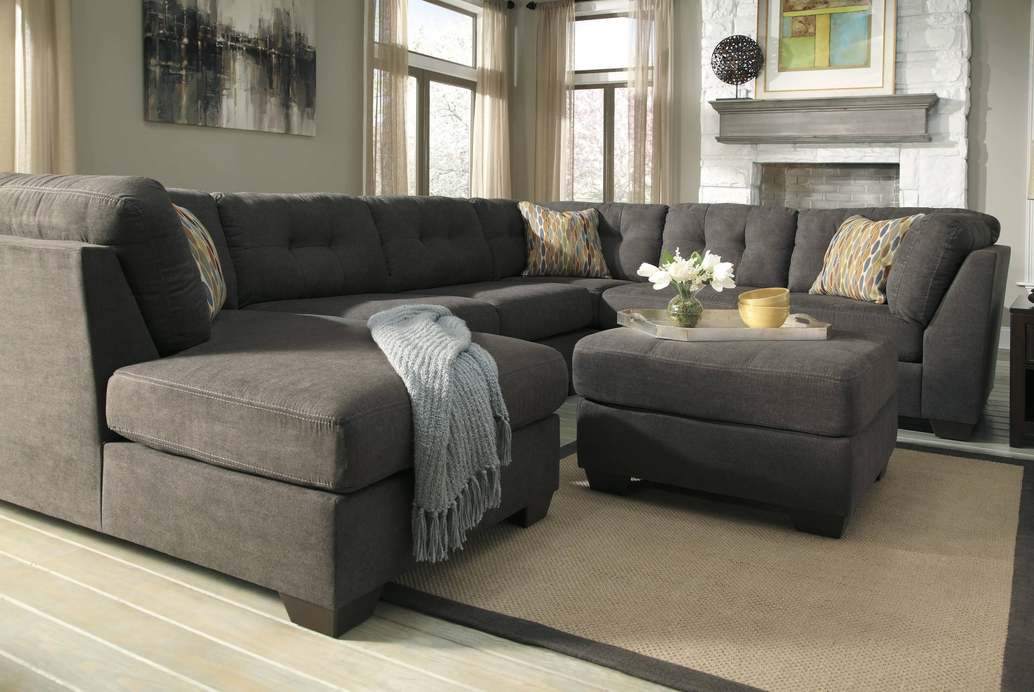 photos of grey chaise sectionals showing 10 of 15 photos. Black Bedroom Furniture Sets. Home Design Ideas