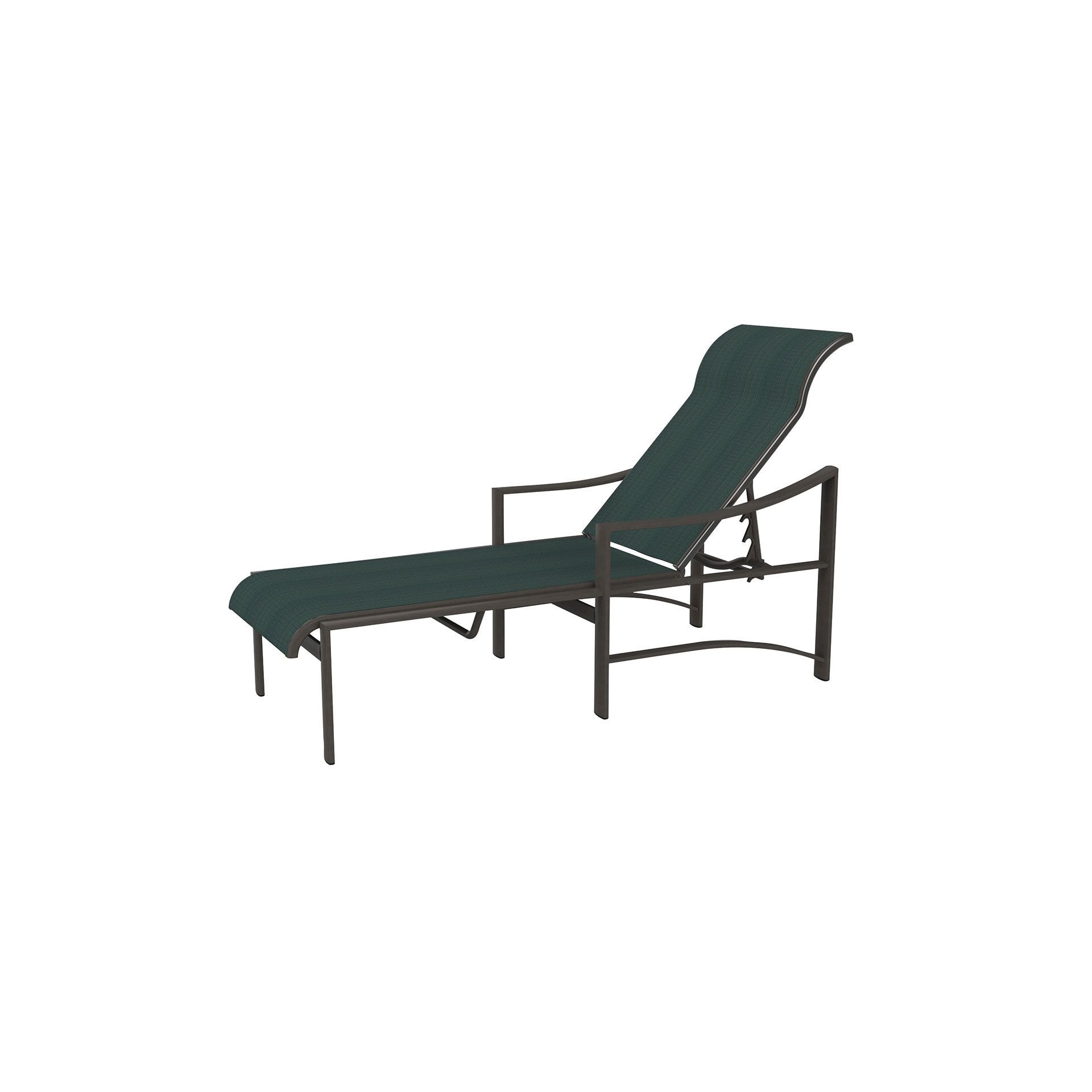 Most Recently Released Tropitone Kenzo Sling Chaise Lounge Leisure Living Regarding Lounges