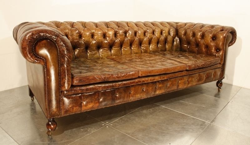 Most Recently Released Vintage Chesterfield Sofas With Regard To 47 Park Avenue: A Vintage 1920's Leather Chesterfield Sofa! (View 8 of 10)