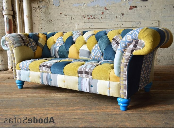 Most Recently Released Yellow Chintz Sofas For 37 Best Patchwork Chesterfield Sofa & Chairs Images On Pinterest (View 6 of 10)