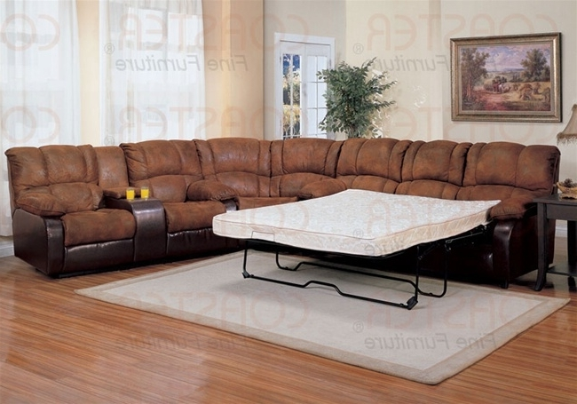 Most Up To Date 3 Piece Sectional Sleeper Sofas With 3 Piece Sectional Set With Queen Sofa Sleeper In Two Tone Cover (View 14 of 15)