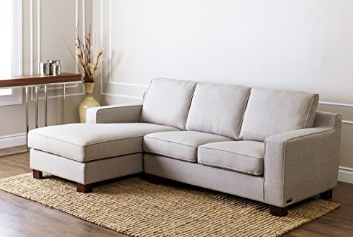 Most Up To Date Abbyson Sectional Sofas For Amazon: Abbyson Regina Fabric Sectional Sofa, Grey: Home & Kitchen (View 12 of 15)