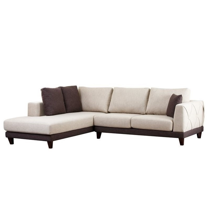 Merveilleux Most Up To Date Abbyson Sectional Sofas Within Abbyson Living Juliette  Fabric Sectional Sofa In Cream