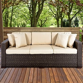 Most Up To Date Amazon : Best Choiceproducts Outdoor Wicker Patio Furniture With Patio Sofas (View 5 of 10)