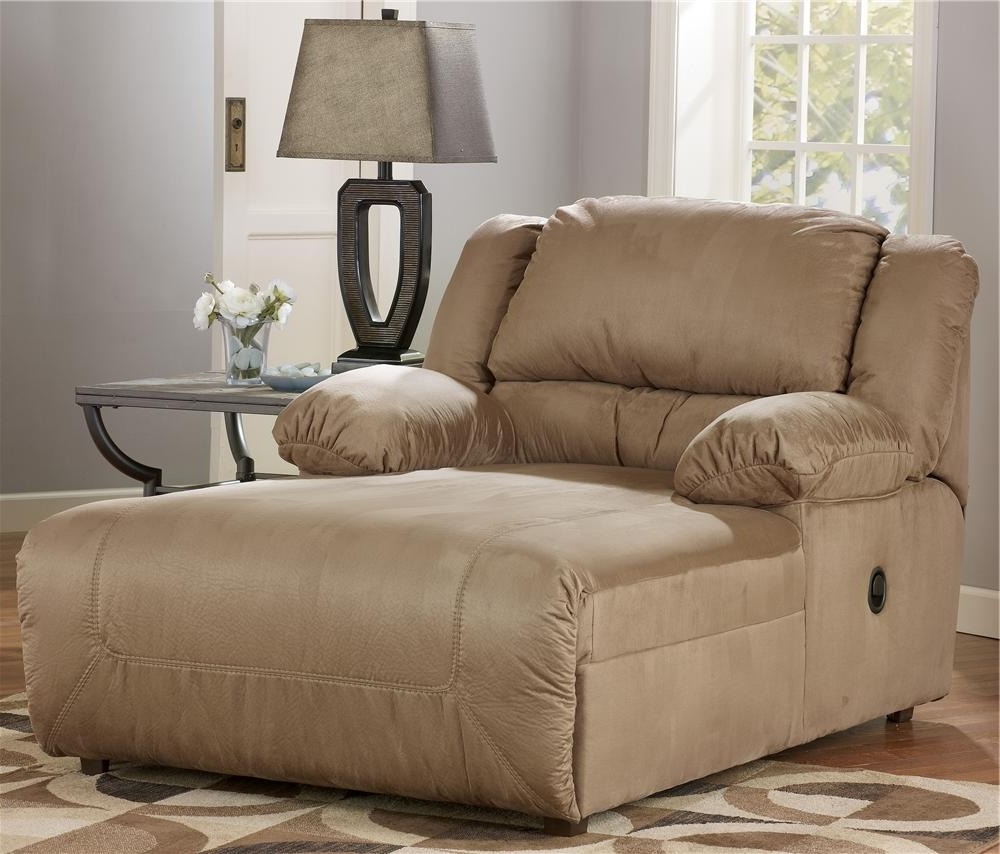 Most Up To Date Ashley Chaise Lounges Intended For Signature Designashley Hogan – Mocha 2 Arm Pressback Chaise (View 2 of 15)
