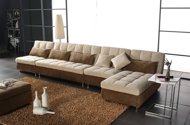 Featured Photo of Modern Microfiber Sectional Sofas