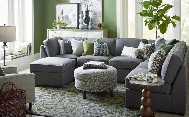 Most Up To Date Blue U Shaped Sectionals With Beckie U Shaped Sectionalbassett Furniture – Contemporary (View 5 of 10)
