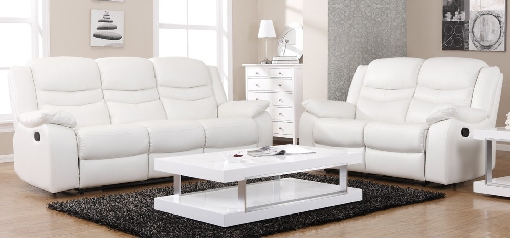 Most Up To Date Charming White Leather Recliner Sofa Reclining Sofas Leather Sofa Intended For White Leather Sofas (View 6 of 10)