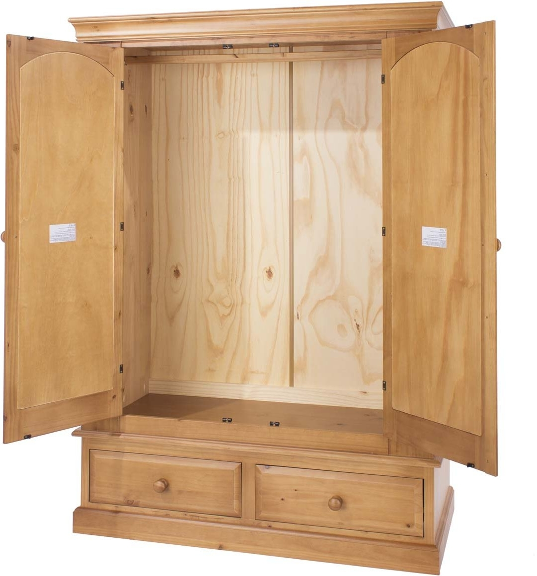 Most Up To Date Core Products Ed582 Wardrobes In Natural Pine Wardrobes (View 3 of 15)