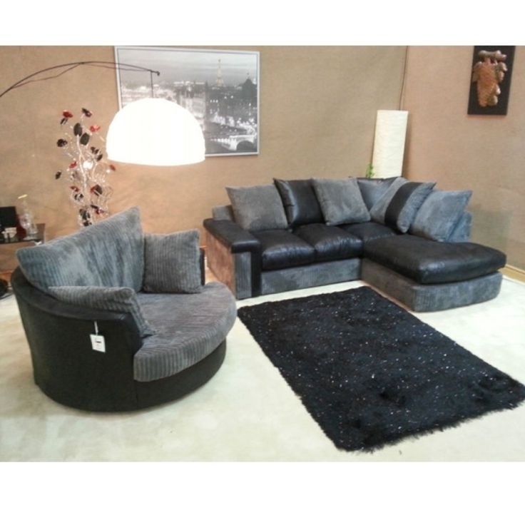 Most Up To Date Cuddler Swivel Sofa Chairs In Brown Swivel Chair Corner Sofa And Club Bulay With Regard To (View 5 of 10)