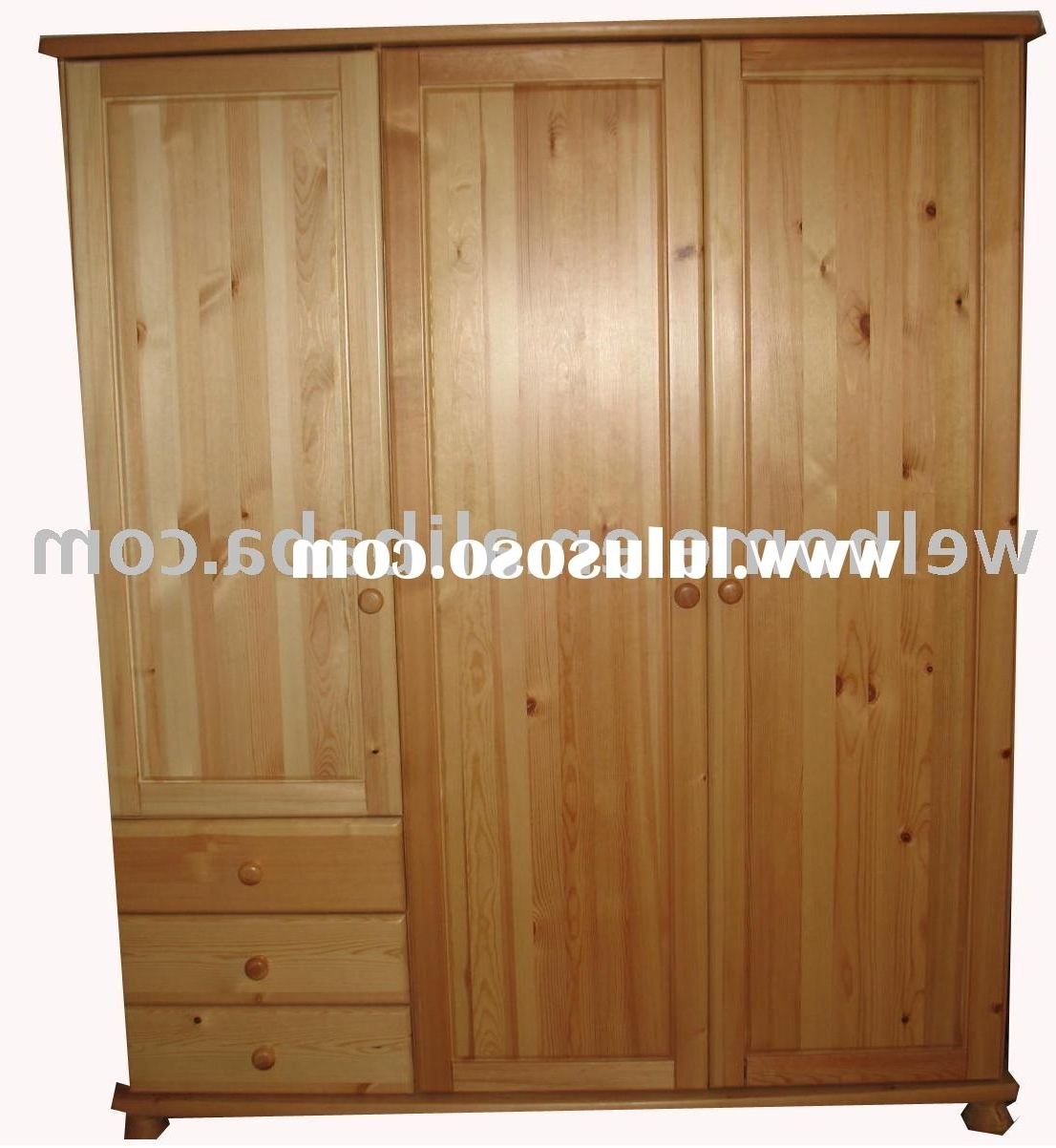 Most Up To Date Double Pine Wardrobes Inside Bedroom: Beautiful Bedroom Furniture Wardrobe (View 9 of 15)